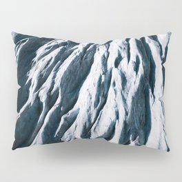 Arctic Glacial Pattern from above - Landscape Photography Pillow Sham