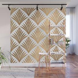 Art Deco Pattern in Gold Wall Mural