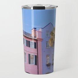 Rainbow Row in Charleston Travel Mug