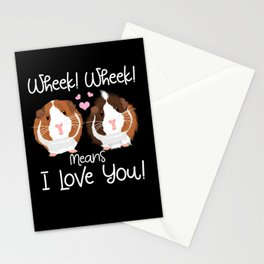 Wheek mean I Love You Guinea Pig Cavy Roddent Stationery Cards