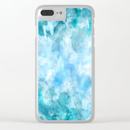 Fresh ice watercolor Clear iPhone Case