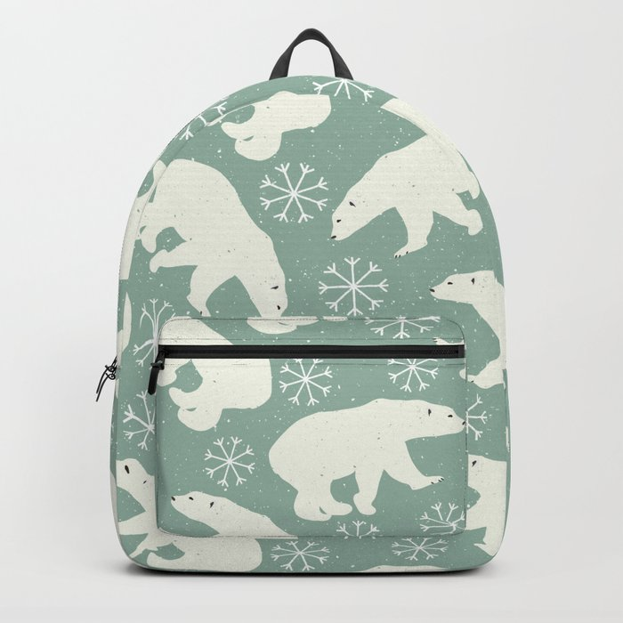 Merry Christmas - Polar bear - Animal pattern Backpack