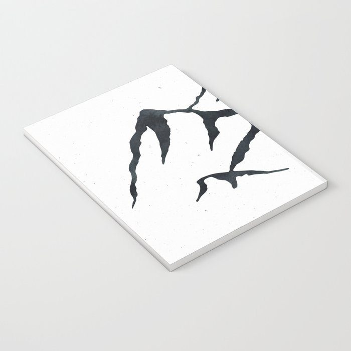 MOUNTAINS Black and White Notebook