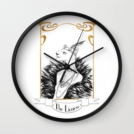 The Lioness Wall Clock