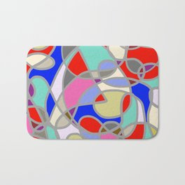 Stain Glass Abstract Meditation Painting 1 Bath Mat