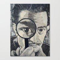 salvador dali Canvas Prints featuring Salvador Dali by Lyneth Morgan