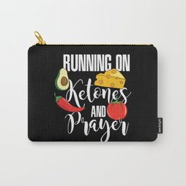 Running On Ketones And Prayer Carry-All Pouch