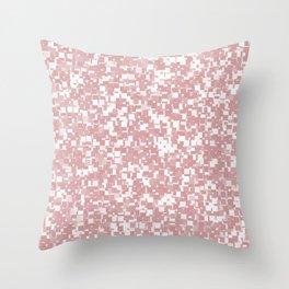 Bridal Rose Pixels Throw Pillow