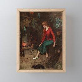 The glass slipper Framed Mini Art Print