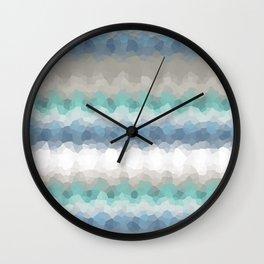 "Abstract pattern "" Blue crush ""  . Wall Clock"