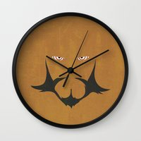 gurren lagann Wall Clocks featuring Minimalist Lordgenome by 5eth
