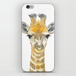 Baby Giraffe Watercolor iPhone Skin