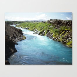 river blue green Canvas Print