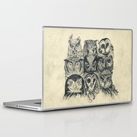 boss Laptop & iPad Skins featuring Nine Owls by Rachel Caldwell