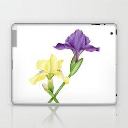 Watercolor irises Laptop & iPad Skin