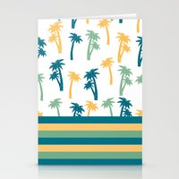 coconut wishes Stationery Cards featuring Coconut by Gabriela Souza