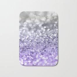 Purple Gray MERMAID Girls Glitter #1 #shiny #decor #art #society6 Bath Mat