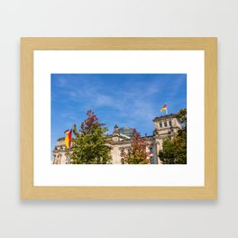 Reichstag building Berlin Framed Art Print