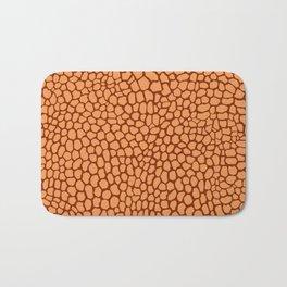 Reptile Pattern Rust and Peach Bath Mat