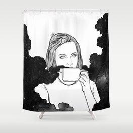 Magical coffee. Shower Curtain