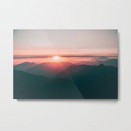 Baker Sunset Metal Print