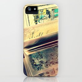Sunshine on page spines iPhone Case