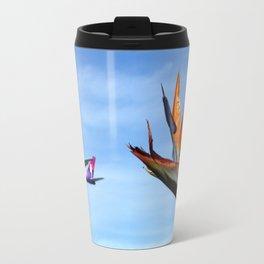 Hawaiian 767 and Bird of Paradise Travel Mug