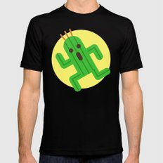 Final Fantasy - Cactuar Mens Fitted Tee Black LARGE