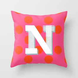 N is for Nice Throw Pillow