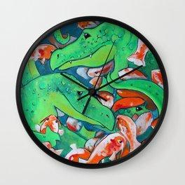 CROCODILE SMILE Wall Clock