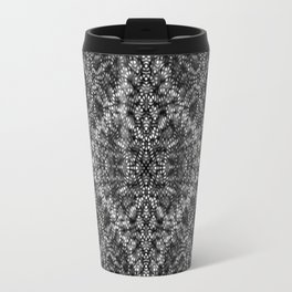 Diffract black and white Travel Mug