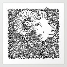 Worsheep Art Print