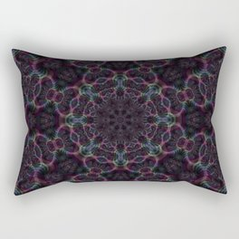 Branching Rainbow Fractal Kaleidoscope 2 Rectangular Pillow