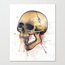 Splatter Paint Skull Canvas Print