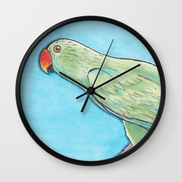 Male Eclectus Wall Clock
