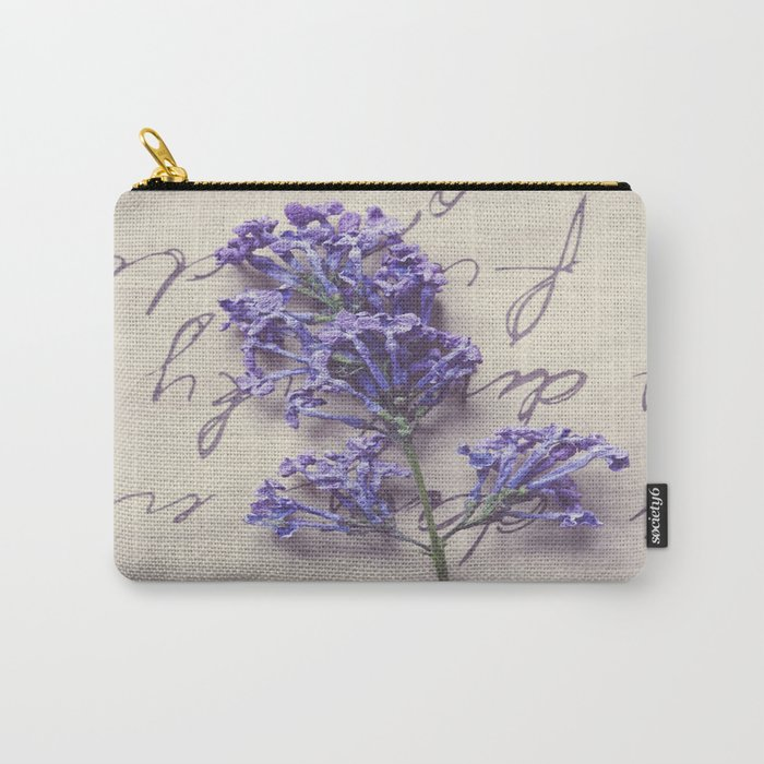 Love Letter With Lilac Carry-All Pouch