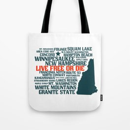 New Hampshire Live Free or Die Tote Bag