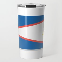Flag of American Samoa. The slit in the paper with shadows. Travel Mug