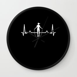 Skipping Rope Heartbeat Line Funny Gift Wall Clock