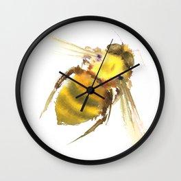 Bee, bee art, bee design Wall Clock
