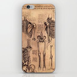Study of Skeletons - Leonardo da Vinci iPhone Skin