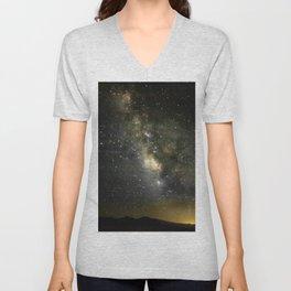 Stars Over the Black Rock Desert Unisex V-Neck
