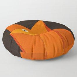 Dark Geometric Cute Origami Fox Floor Pillow