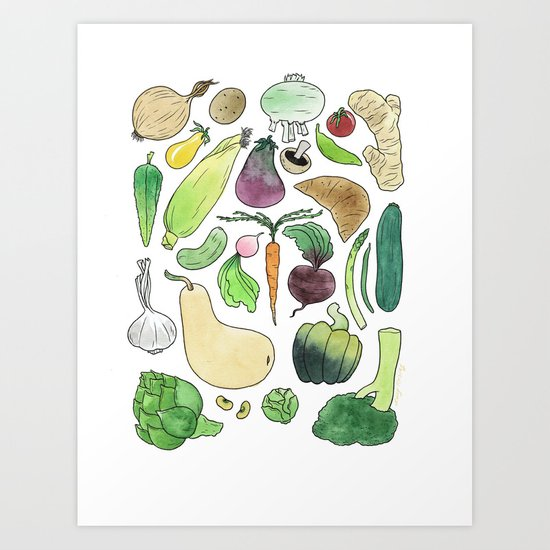 Veg! Art Print