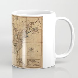 Map of the United States by John Melish (1818) 3rd State Coffee Mug