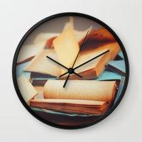 books Wall Clocks featuring Books by Nina's clicks