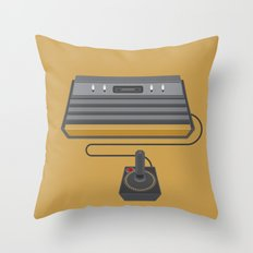 Retro Gaming - Atari Throw Pillow