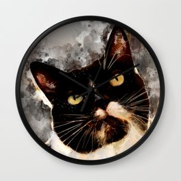 Cat Jagoda art Wall Clock