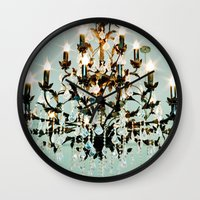 chandelier Wall Clocks featuring Chandelier. by heather cherie