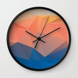 Lima — Poster, scandinavian, art, art print, geometric, pastel, low poly, maritim, drawings, paint Wall Clock